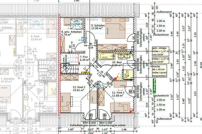 Dachgeschoss - Wohnfläche nach DIN: 70,61 m²