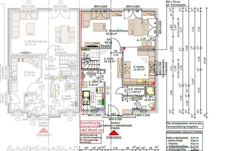 Erdgeschoss - Wohnfläche nach DIN: 72,55 m²