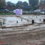 Die erste Bewehrung und der erste Beton sind für den nächsten Tag geplant.